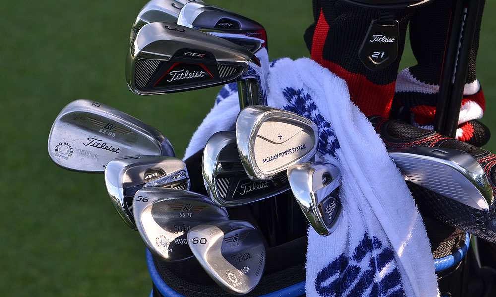 Hunter Haas, who plays Titleist 712 AP2 irons, plans to add a 712 AP1 3-iron this week to help him hit higher, softer shots on Colonial's par 3s.