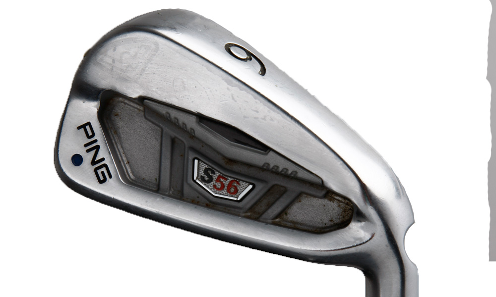Mahan likes these Ping S56 irons because they help him easily hit the ball high and land it soft.