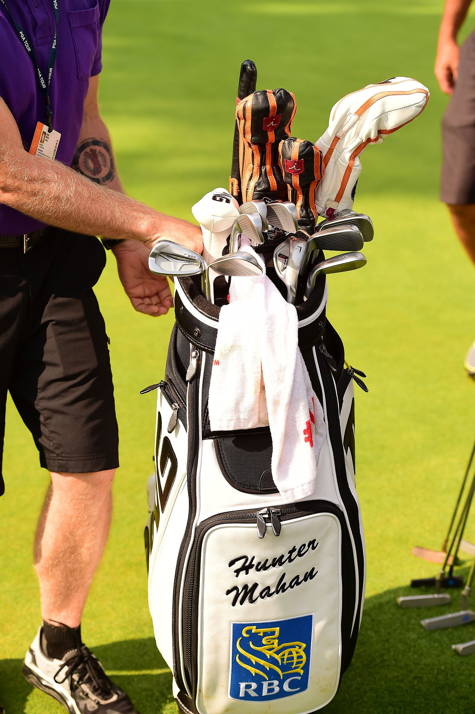 PING staffer Hunter Mahan is playing S55 irons and an i20 L-wedge, among various other gear.