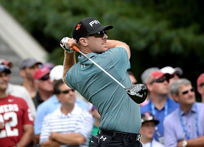 Hunter Mahan                       FedEx Cup rank: 5                       CATEGORY: Total Driving                       PGA Tour rank: 3rd (combines driving distance rank and driving accuracy rank)                       Club: Ping G25 (9.5° set to 10.5°) with Aldila Rouge 70 shaft, X flex                       Hunter is 45th on Tour in driving distance and 35th in driving accuracy. Lucas Glover leads the Total Driving stat on Tour.