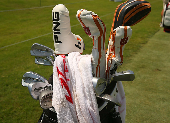 Hunter Mahan plays Ping S55 irons.