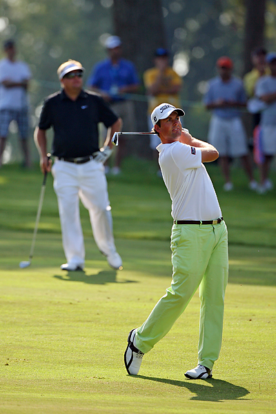 Defending champion Webb Simpson was paired with the red-hot Carl Pettersson Thursday during the opening round of the Wyndham Championship in Greensboro, N.C., the PGA Tour's last stop before the FedEx Cup Playoffs.