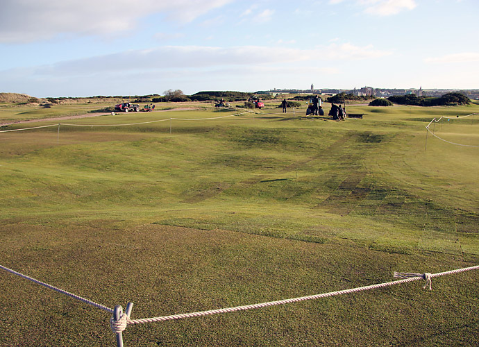 "In 2012, The R&A announced plans to to toughen the course for today's long-hitting pros in advance of the 2015 Open Championship. ""The Championship Committee felt there was an opportunity to stiffen its defences in some places to ensure it remains as challenging as ever to the professionals,"" said R&A Chief Executive Peter Dawson."