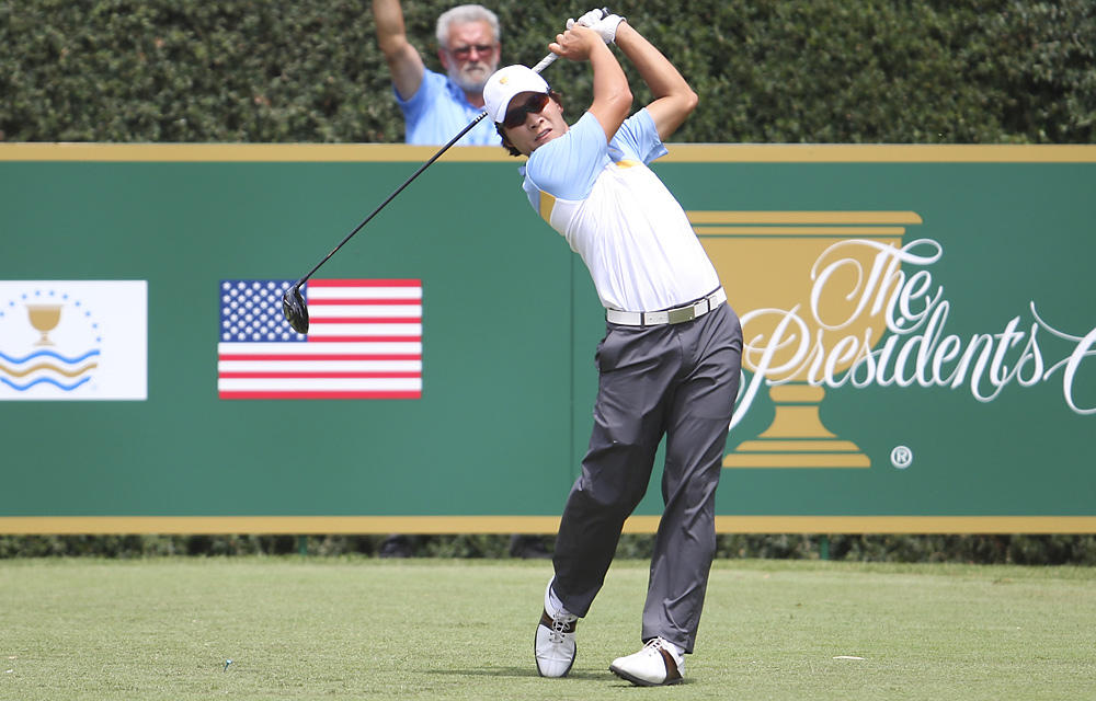 K.T. Kim beat Webb Simpson in the opening match of Sunday singles and finished 2-2.