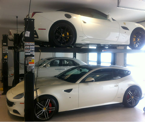 Ian Poulter's home garage