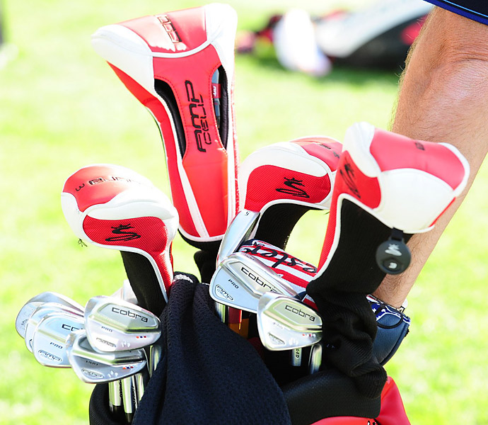 Ian Poulter plays Cobra AMP Cell Pro irons.