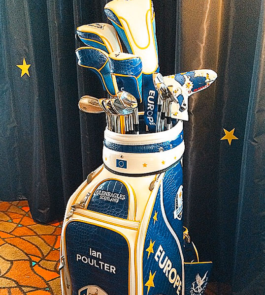How good does my #RyderCup2014 bag look. #Pumped