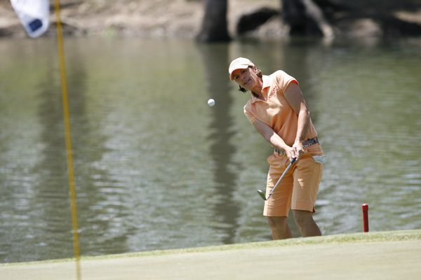 Juli Inkster shot a 67 on Saturday and a 70 on Sunday, but it was not good enough to give her the win.