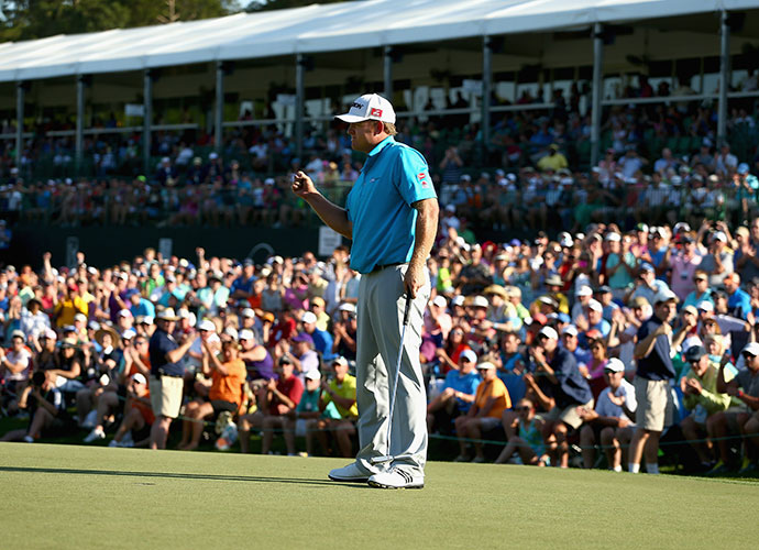 J.B. Holmes shot a 1-under 71 on Sunday to secure a one-shot victory at the Wells Fargo Championship at Quail Hollow, saving bogey on the final hole to avoid a playoff with Jim Furyk.