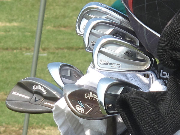 J.B. Holmes uses Callaway woods and wedges these days, but his old Cobra Pro CB irons are still in his bag.