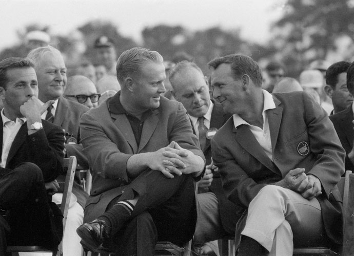 "Jack Nicklaus, in the '60s                                               There was nothing outwardly objectionable about Nicklaus or his behavior, but Arnold Palmer's legions of fans were miffed at the new threat to the King's supremacy. They picked on Jack's weight (""Fat Jack""), and the comparatively uninspiring way the new guy from Ohio played the game. Like many players before and after him, Nicklaus had to work his way into the public's hearts."