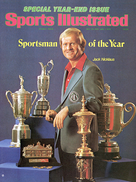 Having won every major trophy in golf — two U.S. Amateurs, five Masters, three U.S. Opens, three British Opens and four PGA Championships — Nicklaus was named Sports Illustrated's Sportsman of the Year in 1978.