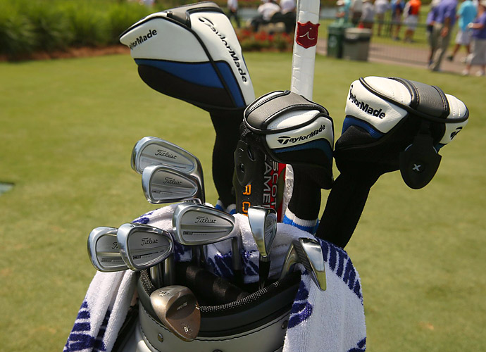 James Hahn has Titleist CB Forged irons and TaylorMade woods in his bag.
