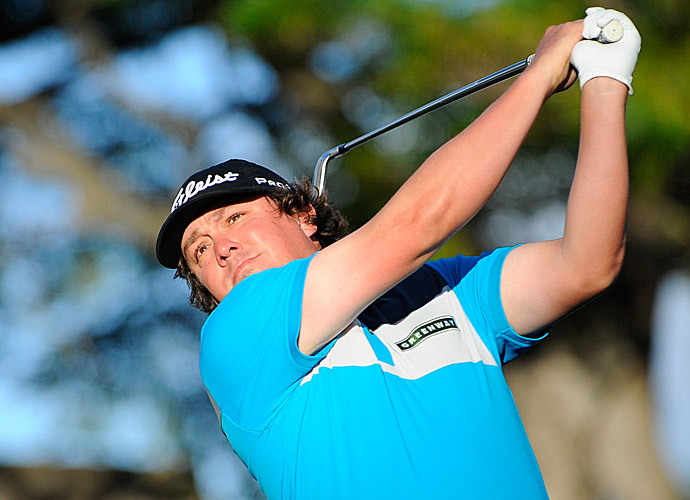 Jason Dufner is tied with Adam Scott at three under.