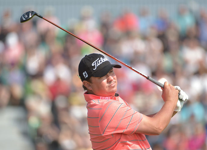 Jason Dufner shot a second-round 74 and is even going to the weekend.