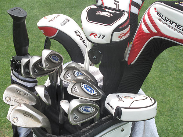 Jeff Quinney has a very mixed bag of clubs. He plays Ping i5 irons, Titleist Vokey Spin Milled wedges and a TaylorMade SuperFast 2.0 driver.