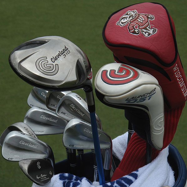 Jerry Kelly uses a Cleveland Launcher Ultralite 310TL driver and CG1 Tour irons.