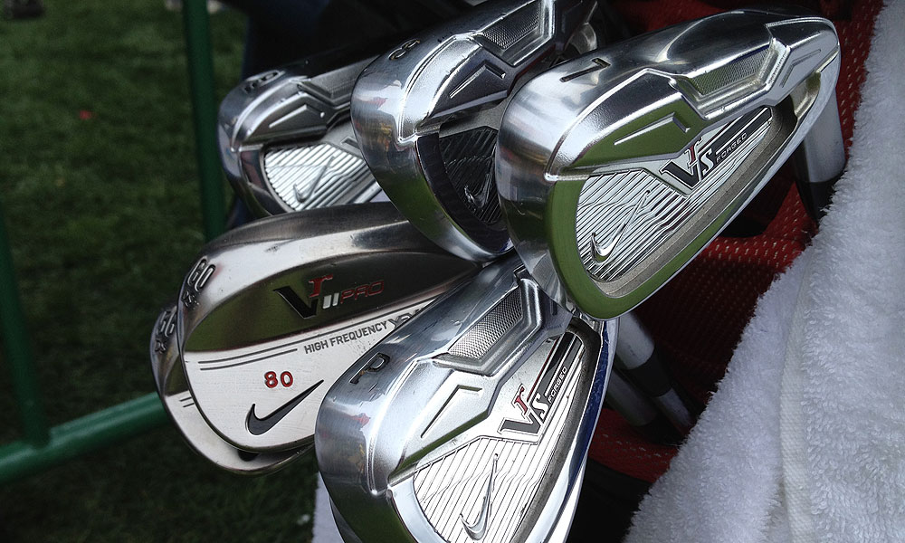 "These Nike VR_S irons and VR Pro wedges spotted at the AT&T Pebble Beach National Pro-Am belong to the most famous ""80"" in the history of San Francisco sports, Jerry Rice."