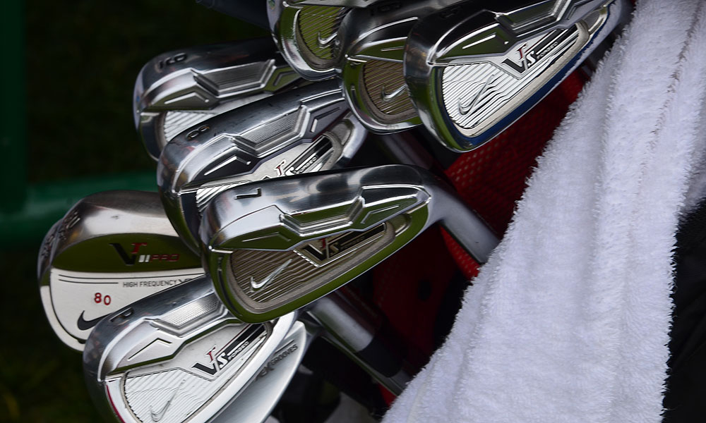 These Nike VR_S Forged irons belong to the most-famous No. 80 in the Bay Area, Jerry Rice.