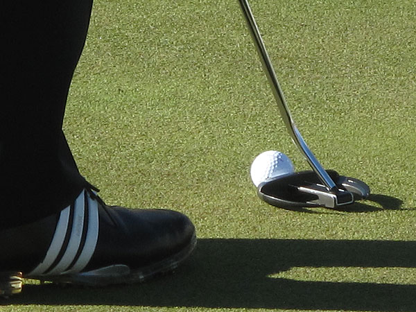 Jim Furyk is going with an Odyssey Backstryke Sabertooth putter at Augusta.