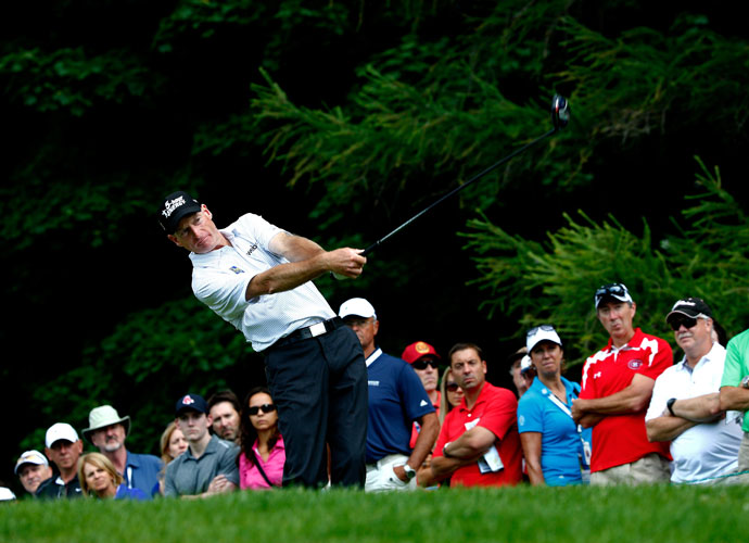 Two-time Canadian Open champion Jim Furyk extended his lead to three shots over Tim Clark with a third-round 65.