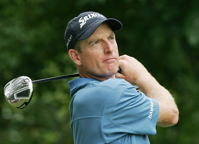 "Jim Furyk fired a 62 in the second round of the 2008 BMW Championship, and Miller described the round as the ""first time in history someone's shot 62 and never smiled."""