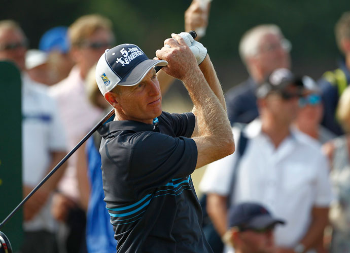 Jim Furyk shot 65 Sunday, tied for the best round of the day, and finished alone in fourth at -13.