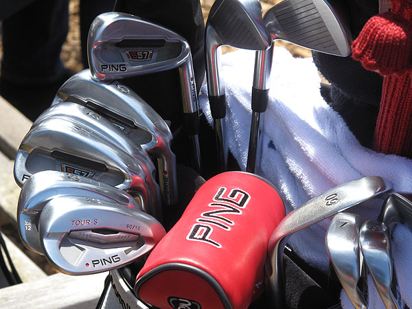 plays Ping S57 irons. But don't be surprised if he switches to the company's new S56 irons later this season.