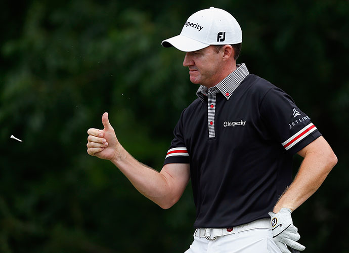 Jimmy Walker liked his tee shot on the 6th. He also opened with a 3-under 67.