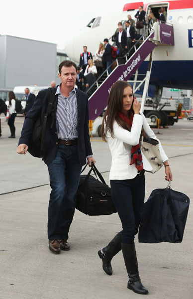 Jimmy Walker won three times in the 2013-14 wraparound PGA Tour season and is making his Ryder Cup debut. He's with his wife, Erin.