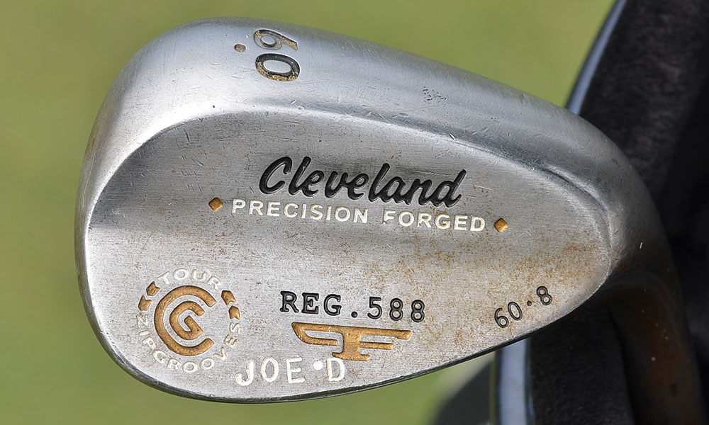 This club did not belong to former Olympic Club member and Yankees centerfielder Joe DiMaggio. It's Joe Durant's Cleveland 588 Forged lob wedge .