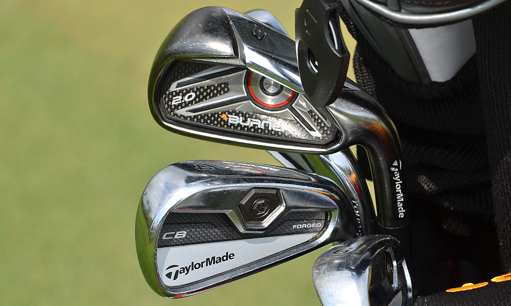Joe Ogilvie uses TaylorMade's Tour Preferred Forged Cavity Back irons, but he pulled the 3-iron in favor of the easier-to-hit TaylorMade Burner 2.0.