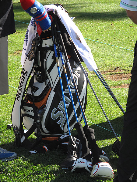 John Rollins did quite a bit of driver testing on Monday morning, trying both of TaylorMade's new models, the R11 and the Burner SuperFast 2.0.