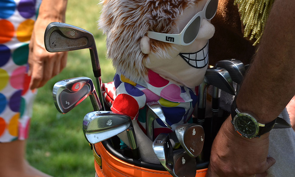 John Daly plays a mixed set of Scratch AR-1 long irons and SB-1 mid- and short-irons.