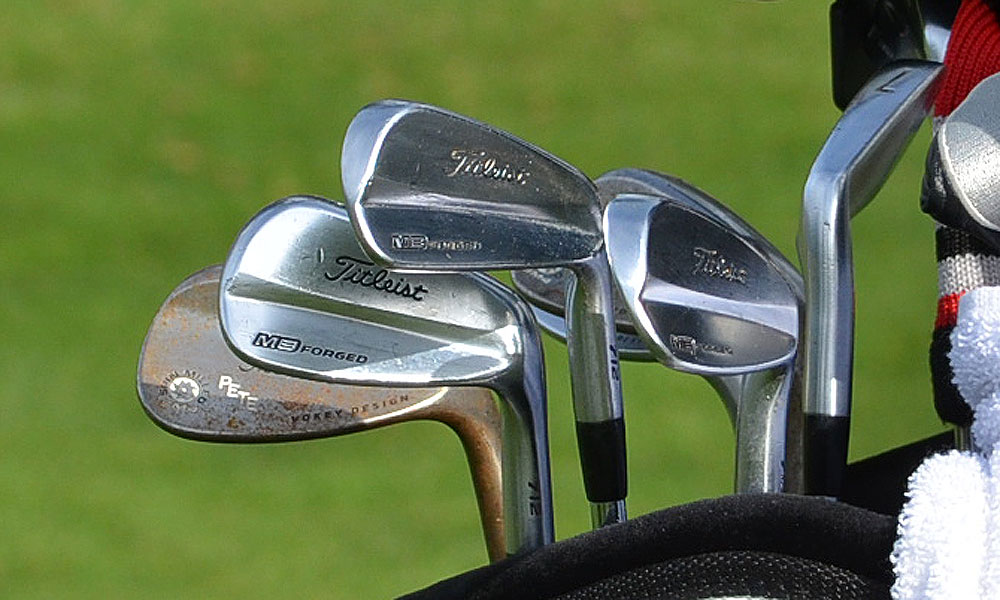 NCAA champ John Peterson is playing in his first PGA Tour event this week. He'll be using these Titleist 912 MB irons.