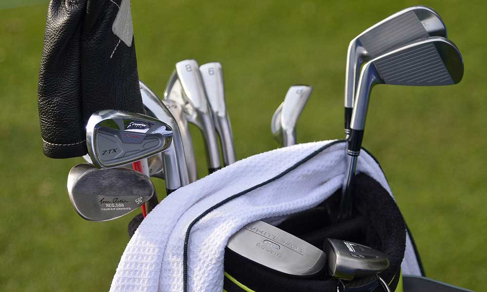 John Rollins has quite a mixed bag of clubs: Srixon Z-TX irons, Cleveland 588 wedges, a TaylorMade R11S driver and an Odyssey White Hot Rossie putter.