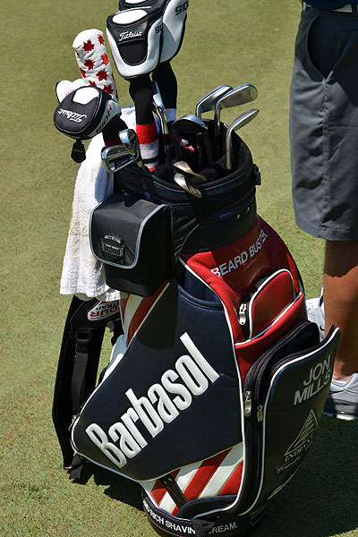 If the USGA needs help shaving the greenside banks at Congressional, they could get the help of Jon Mills, who is sponsored by Barbasol.