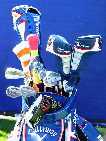 Jonathan Byrd's caddie is carrying an attractive Callaway bag this week.
