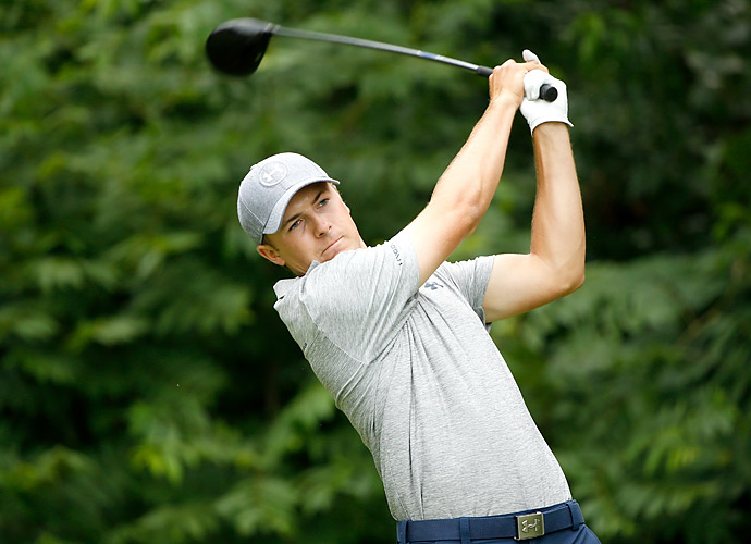 Jordan Spieth made up for a mediocre opening round with a 64 on Friday.