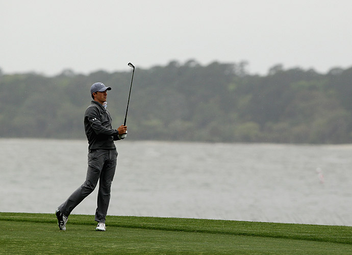 Spieth shot a three-over 74 to drop to one over.