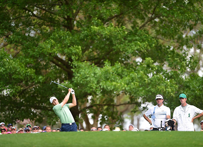 Spieth's day began to unravel with bogeys at the 8th and 9th.
