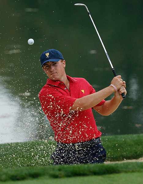 20-year-old PGA Tour Rookie of the Year Jordan Spieth is participating in his first Presidents Cup.