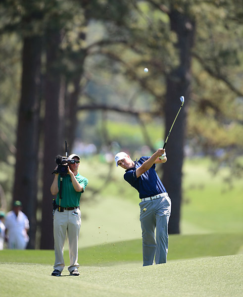 Spieth, just 20 years old, would become the youngest Masters champion ever with a win.