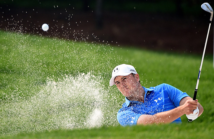 American Jordan Spieth matched Westwood's 70.