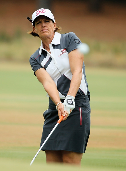 In what will be her 35th and final U.S. Women's Open, 53-year-old Hall of Famer Juli Inkster carded a third-round 66 on Saturday to jump into a tie for third place, four shots off the lead.