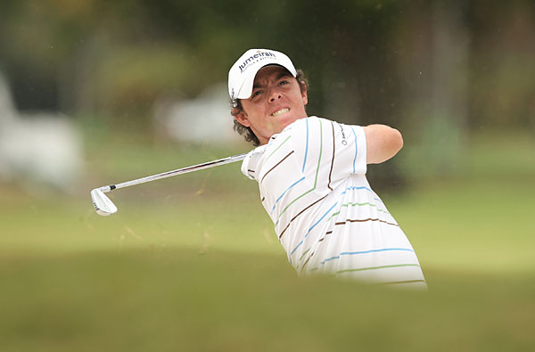 Rory McIlroy: Dropped Barbell on Toe                             McIlroy dropped a 50-pound barbell on his toe the Wednesday before the WCG-Cadillac Championship at Doral in 2011. The accident didn't appear to bother him much. WeiUnderPar.com's Stephanie Wei said McIlroy went right back to the gym the next day, and he finished T10 at the tournament. He must be trying to get buff like Tiger.