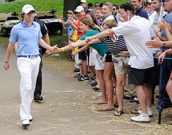 Rory McIlroy Follow @McIlroyRory                            Golf's boy king isn't prolific, but he posts fun pictures and doesn't censor his charming, goofy, fun-loving personality.