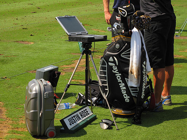 teamed with TaylorMade reps while using a portable TrackMan launch monitor to study things like launch angle, spin rate and distance.