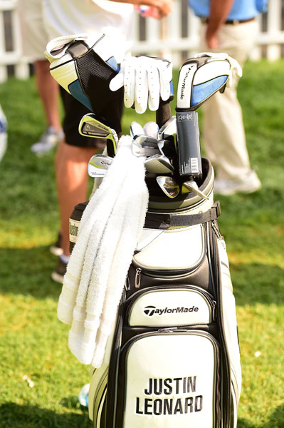 Former Open Champion Justin Leonard still likes his blades, as illustrated by the TaylorMade Tour Preferred muscle backs in his bag. He also has a Rocketbladez Tour long iron.