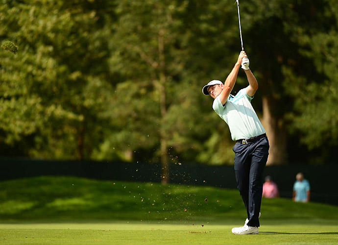 2013 U.S. Open champion Justin Rose shot a two-under 68.
